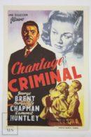 Original 1952 The Last Page Cinema / Movie Advt Brochure - George Brent,  Marguerite Chapman,  Raymond Huntley - Publicité Cinématographique