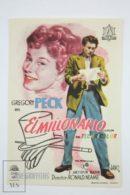 Original 1954 The Million Pound Note Cinema / Movie Advt Brochure - Gregory Peck,  Ronald Squire,  Joyce Grenfell - Publicité Cinématographique