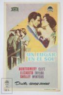 Original 1951 A Place In The Sun Cinema / Movie Advt Brochure - Montgomery Clift,  Elizabeth Taylor,  Shelley Winters - Publicité Cinématographique