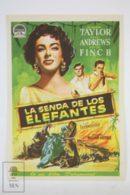 Original 1954 Elephant Walk Cinema / Movie Advt Brochure - Elizabeth Taylor,  Dana Andrews,  Peter Finch - Publicité Cinématographique