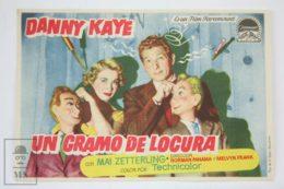 Original 1954 Knock On Wood Cinema / Movie Advt Brochure - Danny Kaye,  Mai Zetterling,  Torin Thatcher - Publicité Cinématographique