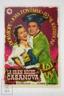 Original 1954 Casanova's Big Night Cinema / Movie Advt Brochure - Bob Hope,  Joan Fontaine,  Audrey Dalton - Publicité Cinématographique