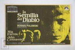 Original 1968 Rosemary's Baby Cinema / Movie Advt Brochure - Mia Farrow,  John Cassavetes,  Ruth Gordon - Publicité Cinématographique