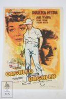 Original 1955 Lucy Gallant Cinema / Movie Advt Brochure - Jane Wyman,  Charlton Heston,  Claire Trevor - Publicité Cinématographique