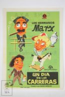 Original 1937 A Day At The Races Cinema / Movie Advt Brochure - The Marx Brothers,  Groucho Marx,  Harpo Marx & Chico - Publicité Cinématographique
