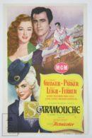 Original 1952 Scaramouche Cinema / Movie Advt Brochure - Stewart Granger,  Eleanor Parker,  Janet Leigh,  Mel Ferrer - Publicité Cinématographique