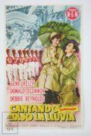 Original 1952 Singin' In The Rain Cinema / Movie Advt Brochure - Gene Kelly,  Donald O'Connor,  Debbie Reynolds - Publicité Cinématographique