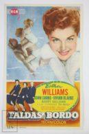 Original 1952 Skirts Ahoy! Cinema / Movie Advt Brochure -Esther Williams,  Joan Evans,  Vivian Blaine - Publicité Cinématographique