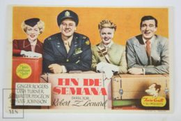 Original 1945 Week-End At The Waldorf Cinema / Movie Advt Brochure -  Ginger Rogers,  Lana Turner,  Walter Pidgeon - Publicité Cinématographique