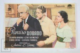 Original 1938 Stolen Heaven Cinema / Movie Advt Brochure -  Gene Raymond, Olympe Bradna, Glenda Farrell - Publicité Cinématographique