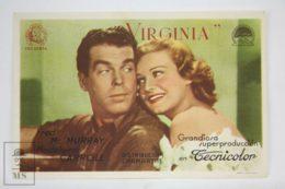 Original 1941 Virginia Cinema / Movie Advt Brochure - Madeleine Carroll,  Fred MacMurray,  Sterling Hayden - Publicité Cinématographique