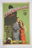 Original 1947 T-Men Cinema / Movie Advt Brochure - Dennis O'Keefe,  Mary Meade,  Alfred Ryder,  Wallace Ford - Publicité Cinématographique