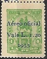 Honduras  1933   Sc#CO43  Surcharge  MLH  2016 Scott Value $3 - Honduras