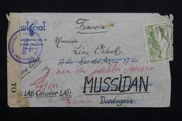 BOLIVIE - Enveloppe Par Condor Pour La France En 1941 , Contrôle Postal, Affranchissement Recto Et Verso -  L 20944 - Bolivia