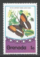 Grenada 1975. Scott #661 (MNH) Butterfly, Five Continents * - Grenade (1974-...)