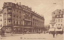 BELG170  ~~  SPA  ~  PLACE PIERRE LE GRAND ET FACADE DE CASINO  ~  1935 - Spa