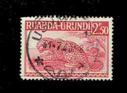 RUANDA URUNDI.(COB-OBP)  1942 - N°139  *Palmiers, Sujets Divers*    2,50F  Oblitéré USUMBURA - 1924-44: Used