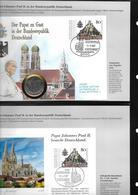 Allemagne Rfa 12 Cartes Maximum Visite Du Pape 1987 - [7] República Federal
