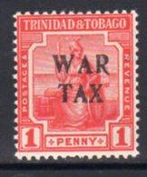 Trinidad & Tobago 1917 1d Red War Tax Overprint, MNH, SG 178 - Trinidad & Tobago (...-1961)