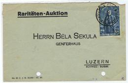 Brief Met Koning Albert I Uit Brussel Naar Luzern - Belgique