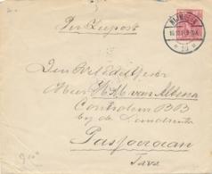 Nederland - 1914 - 5 Cent Wilhelmina, Envelop G20a Van Nijmegen/10 Naar KB Pasoeroean / Nederlands Indië - Postwaardestukken
