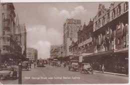 ASTR3  ~~  SYDNEY  ~  GEORGE STREET NEAR CENTRAL STATION  ~  OLDTIMER  ~ 1927  ~  REAL PHOTO PC - Sydney