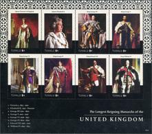 Tuvalu. 2015. Queen Elizabeth II - Longest Reigning Monarch In British History  (MNH OG **) Miniature Sheet - Tuvalu
