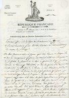 ARM. D'VOIR DESCRIPTION COMPLETE AVEC REPRODUCTION TEXTE.ITALIE 43mm LAC 1ER MESSIDOR AN 6 (19 JUIN 1798)  LETTRE ADRESS - Marcophilie (Lettres)