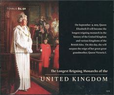Tuvalu. 2015. Queen Elizabeth II - Longest Reigning Monarch In British History  (MNH OG **) Souvenir Sheet - Tuvalu