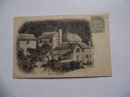 Cpa  Vialas  Hôtel Platon  Belle Animation  1905 - Autres Communes