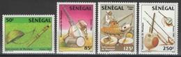 Sénégal - YT 631-634 ** - Instruments De Musique - Sénégal (1960-...)