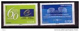 2009-CONSEIL DE L'EUROPE  N°142/143** - Servizio