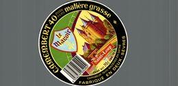 ETIQUETTE DE CAMEMBERT  LE MANOIR  SAINT LOUP - Cheese