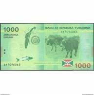 TWN - BURUNDI 51 - 1000 1.000 Francs 15.1.2015 Hybrid Substrate - Prefix BA UNC - Burundi