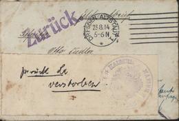 Guerre 14 Pour Allemand Sarajevo Sans N° Feldpost Retournée Berlin Bureau Postal Marine Puis Kiel Cachet Kaiserl Marine - Alemania
