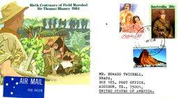 AUSTRALIE. Entier Postal De 1984 Ayant Circulé. Militaire. - Militaria