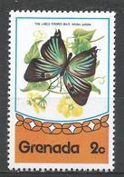 Grenada 1975. Scott #662 (MNH) Butterfly, Large Striped Blue * - Grenade (1974-...)