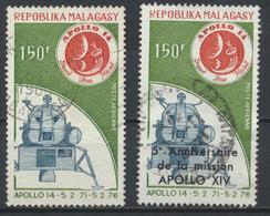 °°° MADAGASCAR - Y&T N°165/66 PA - 1976 °°° - Madagascar (1960-...)