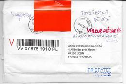 2018 TRES BELLE ENVELOPPE RECOMMANDEE AVEC SECURITE VALEUR DECLAREE RECTO VERSO - Non Classificati
