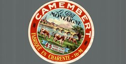 ETIQUETTE DE CAMEMBERT  LE PETIT MONTAIGNE  FABRIQUE EN CHARENTE - Cheese