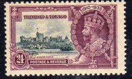 Trinidad & Tobago GV 1935 Silver Jubilee 24c Value, Hinged Mint, SG 242 - Trinidad & Tobago (...-1961)