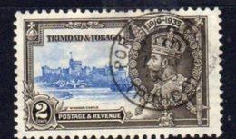 Trinidad & Tobago GV 1935 Silver Jubilee 2c Value, Used, SG 239 - Trinidad & Tobago (...-1961)