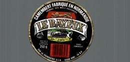 ETIQUETTE DE  CAMEMBERT LE BAYEUX - Fromage