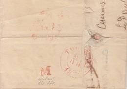 """Lac à Ent ête ( Charbonnage Du LEVANT Du FLENU  Datée De CUESMES /22.7.1837 Par Mons28.7 -> Tournay Avec VACATION """" M"""" ( - 1830-1849 (Belgique Indépendante)"""