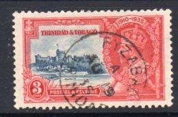 Trinidad & Tobago GV 1935 Silver Jubilee 2c Value, Used FYZABAD, SG 240 - Trinidad & Tobago (...-1961)