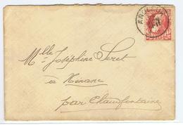 Mooi Document  Met Klein Staatswapen Verstuurd Van Angleur Naar Chaufontaine - Belgium