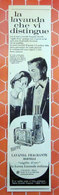 LAVANDA BERTELLI   PUBBLICITA' ORIGINALE PICTURE OF VINTAGE PAPER 1960 - Pubblicitari