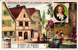 0974 Liebig 6 Cards- C1909  Frederic Schiller-Marbach-Les Brigands-Lengefeld-Goethe-Fichte- - Liebig