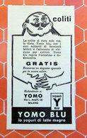 YOMO BLU YOGURT   PUBBLICITA' ORIGINALE PICTURE OF VINTAGE PAPER 1960 - Pubblicitari