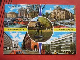 Ljubljana / Laibach - Mehrbildkarte / Auto, Autobus (2CV, ...) - Slowenien